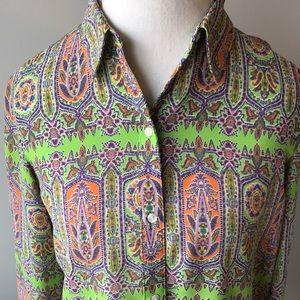 CHAPS size large colorful blouse. EUC!!